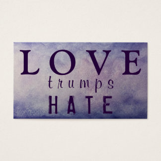LOVE trumps HATE XVII Business Card
