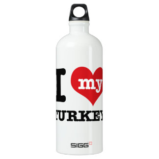 love Turkey Aluminum Water Bottle