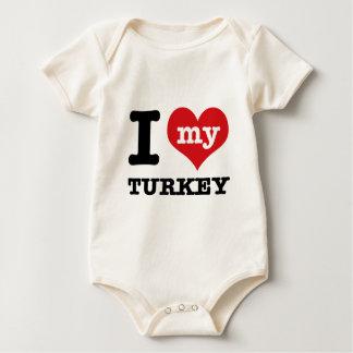 love Turkey Baby Bodysuit