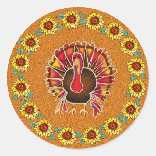 LOVE TURKEY by SHARON SHARPE Stickers