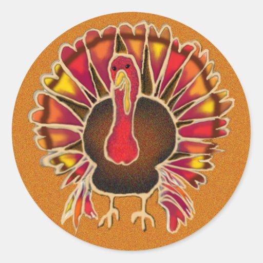 LOVE TURKEY by SHARON SHARPE Round Sticker