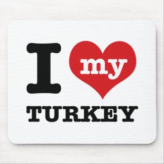 love Turkey Mouse Pad