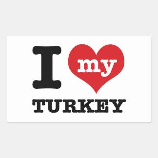 love Turkey Rectangular Sticker