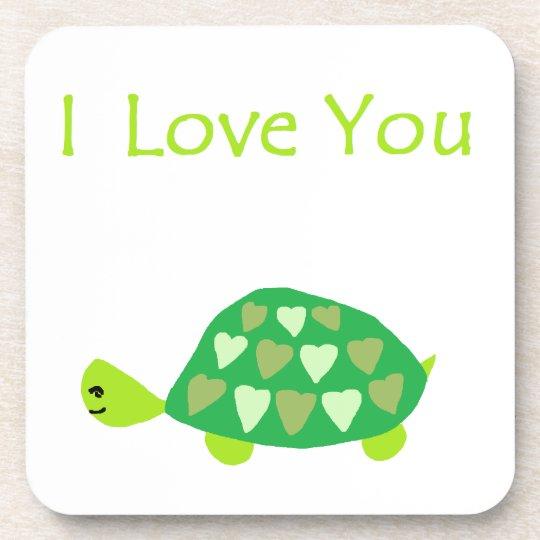 Love Turtle Drink Coaster