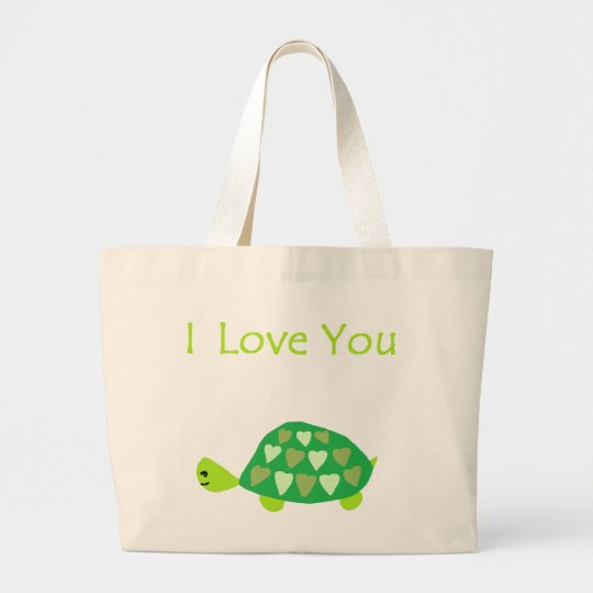 Love Turtle Large Tote Bag