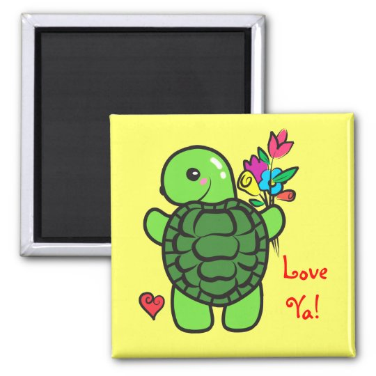 Love turtle magnet