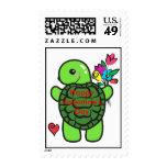 Love turtle postage stamp