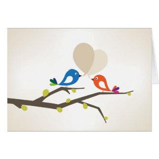 Love Tweet greeting Card
