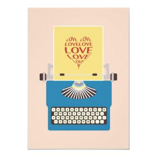 Love Typewriter, Greeting card