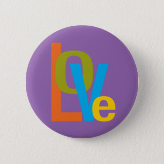 Love typographic 60s style button