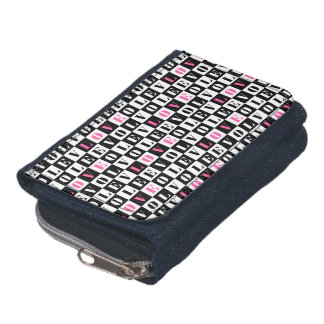 Love Typographic Concept Geometric Pattern Wallet