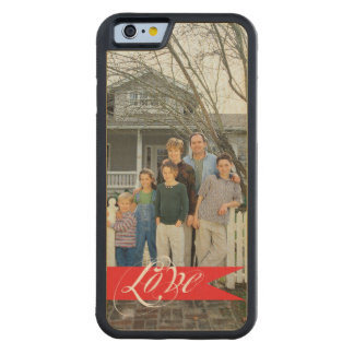"""""""Love"""" Typography Add Your Photo Personalized Carved® Maple iPhone 6 Bumper Case"""