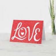 LOVE Typography Art Cards
