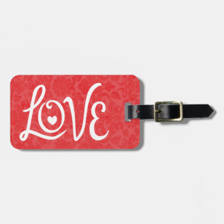 LOVE Typography Art Luggage Tags