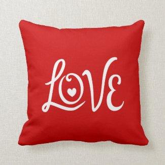 LOVE Typography Art Pillows