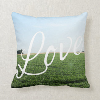 Love Typography Nature Photography Art Throw Pillow