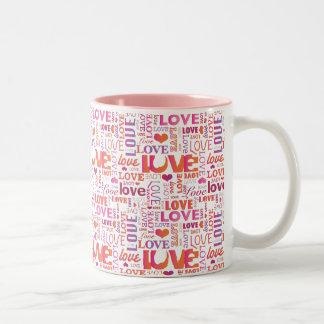 Love typography passion valentines mug