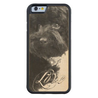 """""""Love"""" Typography Pet or Pet Memorial Add Photo Carved® Maple iPhone 6 Bumper"""