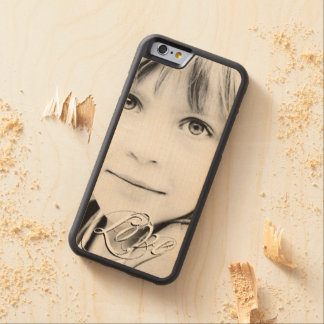 """""""Love"""" Typography Photo Template Add Your Photo Carved® Maple iPhone 6 Bumper"""