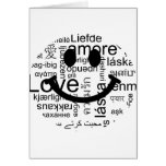 Love typography smiley greeting card