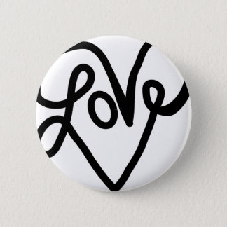 Love Typography Text Art Button