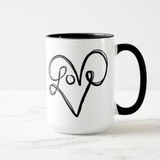 Love Typography Text Art Mug