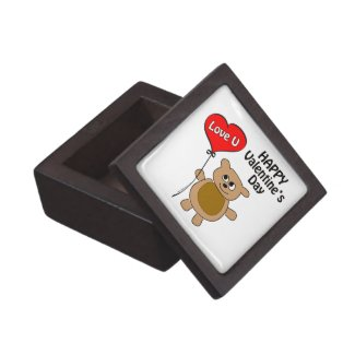 Love U Bear Keepsake Box