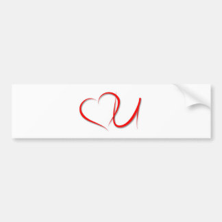 Love U Bumper Sticker