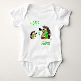 Love U Mum Baby Bodysuit