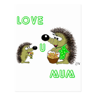 Love U Mum Postcard