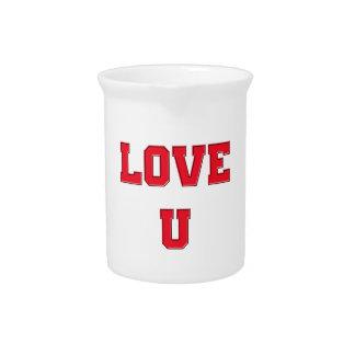 Love U you romance design Valentine's Day Pitchers