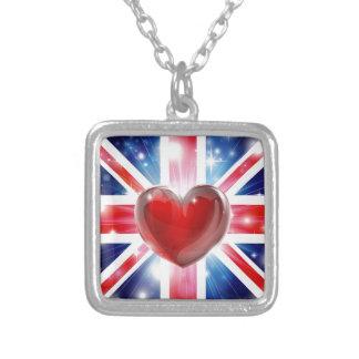 Love UK flag heart background Jewelry