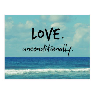 Love Unconditionally Quote Affirmation Postcard