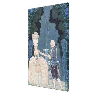 Love under the Fountain, illustration for 'Fetes G Canvas Print