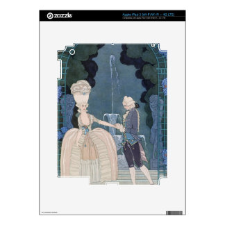 Love under the Fountain, illustration for 'Fetes G iPad 3 Decals