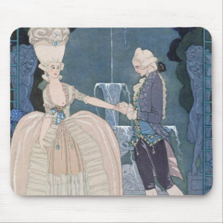 Love under the Fountain, illustration for 'Fetes G Mouse Pad