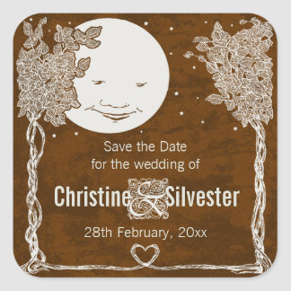 Love Under the Stars save the date Stickers