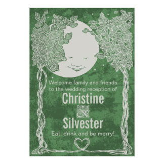Love Under the Stars, wedding reception welcome Poster