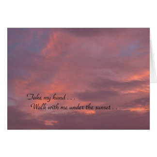 Love Under the Sunset Greeting Card