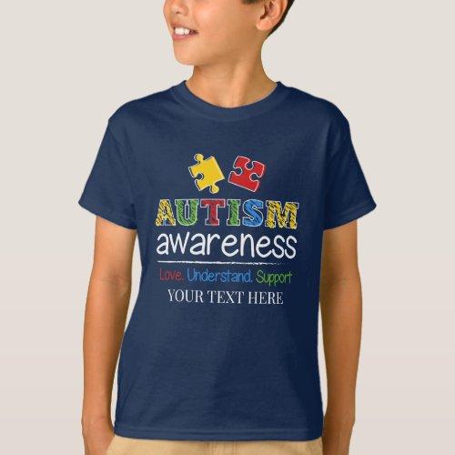 Love Understand Support Autism Awareness T_Shirt