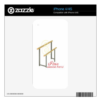 Love Uneven Bars Decal For iPhone 4