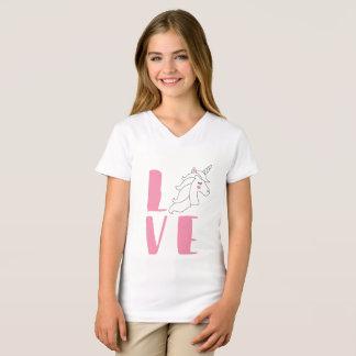 love unicorn girl birthday T-Shirt