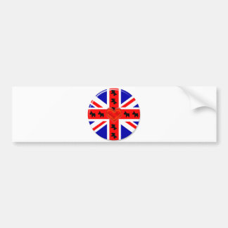 Love Union Jack (Scotties) Bumper Sticker
