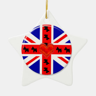 Love Union Jack (Scotties) Ceramic Ornament