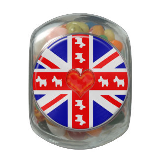 Love Union Jack (Westies) Jelly Belly Candy Jar