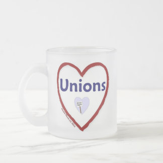 Love Unions Frosted Glass Coffee Mug
