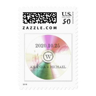 LOVE Unique Modern Retro CD Stamp Wedding