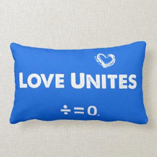 Love Unites Positive Unity Quote Lumbar Pillow