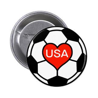 Love US Women's Soccer Team Button