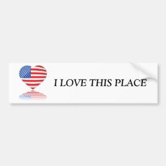 Love USA Bumper Sticker
